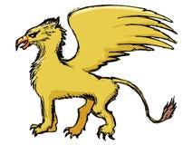 Animal mythologique de griffon Photos libres de droits