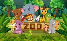Animal na floresta ilustração stock