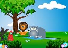 Animal na selva ilustração stock