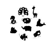 Animal outline Royalty Free Stock Photos