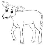 Animal outline for cow. Illustration Stock Image