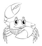Animal outline for crab Stock Image