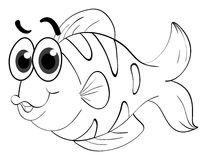 Animal outline for cute fish Royalty Free Stock Images
