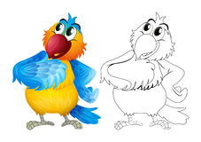 Animal outline for cute parrot Stock Photography