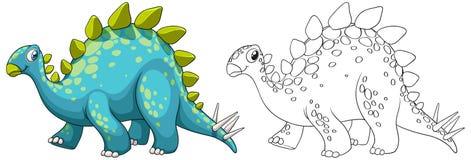 Animal outline for dinosaur. Illustration Stock Photo