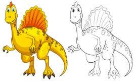 Animal outline for dinosaur. Illustration Royalty Free Stock Images
