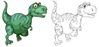 Animal outline for dinosaur. Illustration Royalty Free Stock Photos