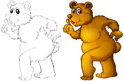 Animal outline for grizzle bear Royalty Free Stock Photo