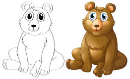 Animal outline for grizzle bear Stock Photo