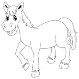 Animal outline for horse Royalty Free Stock Photo