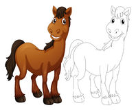 Animal outline for horse Stock Image