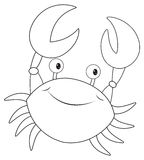 Animal outline for little crab Royalty Free Stock Images