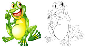 Animal outline for little frog Royalty Free Stock Photo