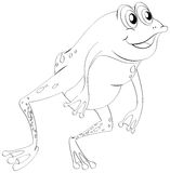 Animal outline for little frog Royalty Free Stock Image