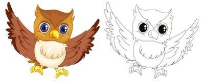 Animal outline for owl Stock Photos
