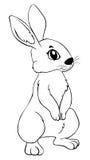 Animal outline for rabbit Stock Image