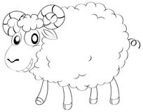 Animal outline for sheep Stock Photography
