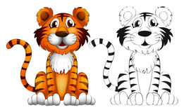 Animal outline for tiger. Illustration Stock Photos