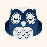 Animal owl flat icon elements, eps10 Stock Photography