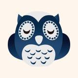 Animal owl flat icon elements, eps10 Stock Photography