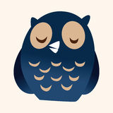 Animal owl flat icon elements, eps10 Royalty Free Stock Photo