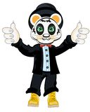 Animal panda in suit. On white background Royalty Free Stock Image