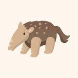 Animal Pangolin flat icon elements, eps10. Vector illustration file Royalty Free Stock Image