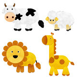 Animal Paper Cut. Animal isolated On White Background, Paper Cut Royalty Free Stock Image