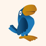 Animal parrot flat icon elements, eps10. Vector illustration file Royalty Free Stock Photo