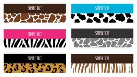 Animal pattern banners Royalty Free Stock Photography