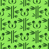 Animal pattern. Decorative seamless pattern with cute  koala bear and bamboo  tree. Vector illustration Stock Photos