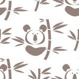 Animal pattern. Decorative seamless pattern with cute  koala bear and bamboo  tree. Vector illustration Royalty Free Stock Photos