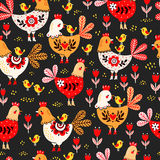 Animal pattern. Domestic bird. Royalty Free Stock Photo