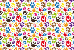 Animal paw pattern Royalty Free Stock Photos
