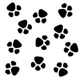 Animal paw pattern Stock Photos
