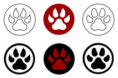 Animal paw print Royalty Free Stock Photo