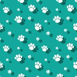 Animal Paw Print Wildnature Seamless Pattern. Animal Paw Print Seamless Pattern Wild Nature Background With Shadow Royalty Free Stock Images