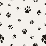 Animal Paw Print  on White. Royalty Free Stock Image