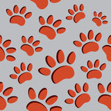 Animal paw prints. Vector illustrations of the animal paw prints Royalty Free Stock Photography