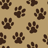 Animal Paw Seamless Pattern Background Vector Stock Photography