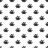 Animal paw seamless pattern Stock Image