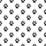 Animal paw seamless pattern Royalty Free Stock Photos