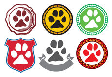 Animal paw sign icons Royalty Free Stock Images