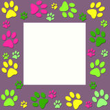 Animal paws frame Royalty Free Stock Images