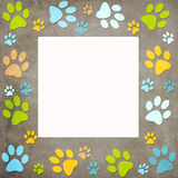 Animal paws  frame Royalty Free Stock Photos