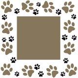 Animal paws  frame Royalty Free Stock Photos