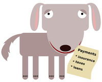 Animal with payments Royalty Free Stock Photography