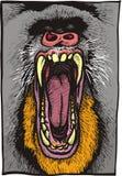 Animal perigoso do babuíno ilustração royalty free