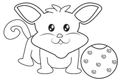 Animal Pet coloring page Stock Photos