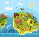 Animal planet. Vector Illustration of a cute animal planet Stock Photography